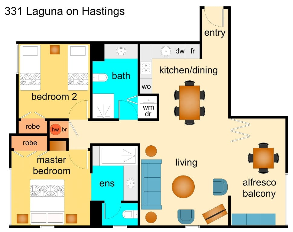 Laguna on Hastings Floor plan